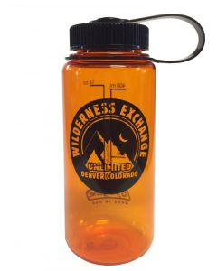Nalgene Everyday Wide Mouth Bottle W/ Wildyx Logo - 1 Pint Orange w/Black Lid