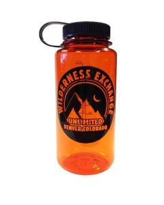Nalgene Everyday Wide Mouth WildyX Logo 1 Quart - Orange with Black Lid