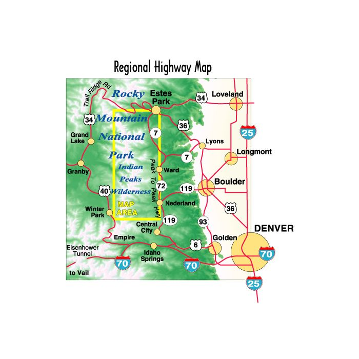 South Rocky Mountain National Park, Indian Peaks - 5th Edition