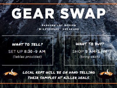 14th Annual Fall Gear Swap and SALE!