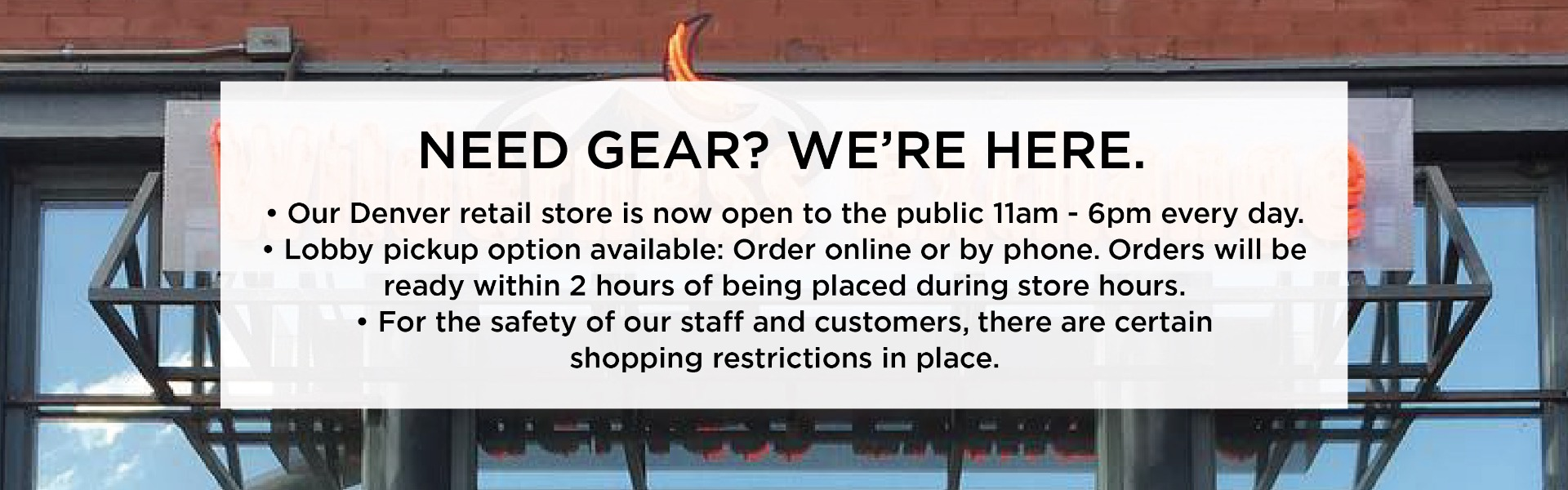 Need Gear? We're Here!
