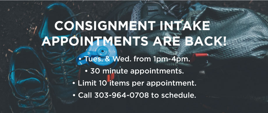 Consignment Intake Update