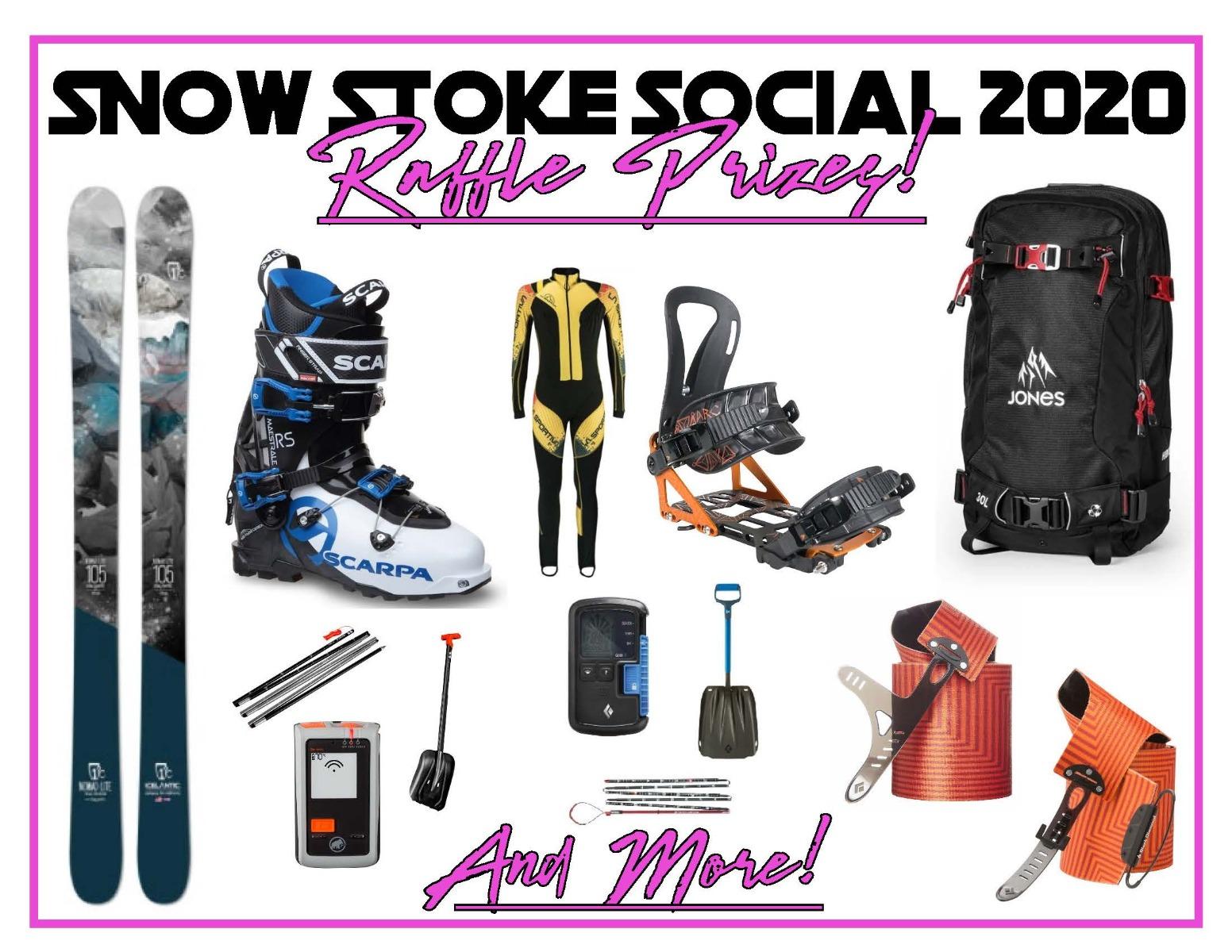 Snow Stoke Social 2020 Raffle Prizes