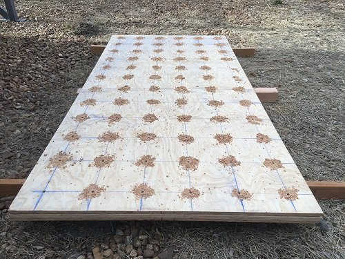 Drilled holes in all 3 sheets at the same time
