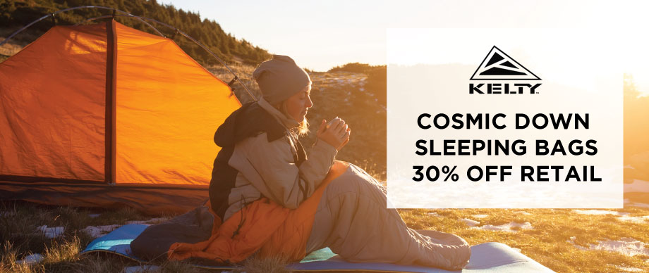 Kelty Cosmic Down Sleeping Bags 30% Off