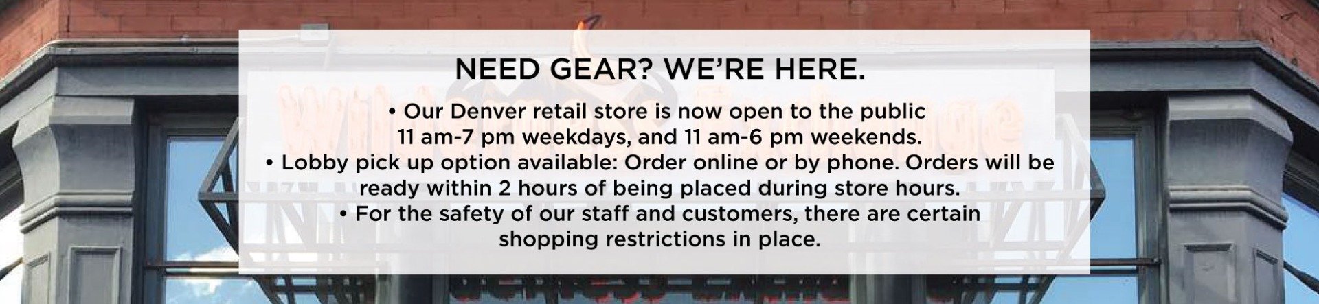 WildyX Retail Store is OPEN!