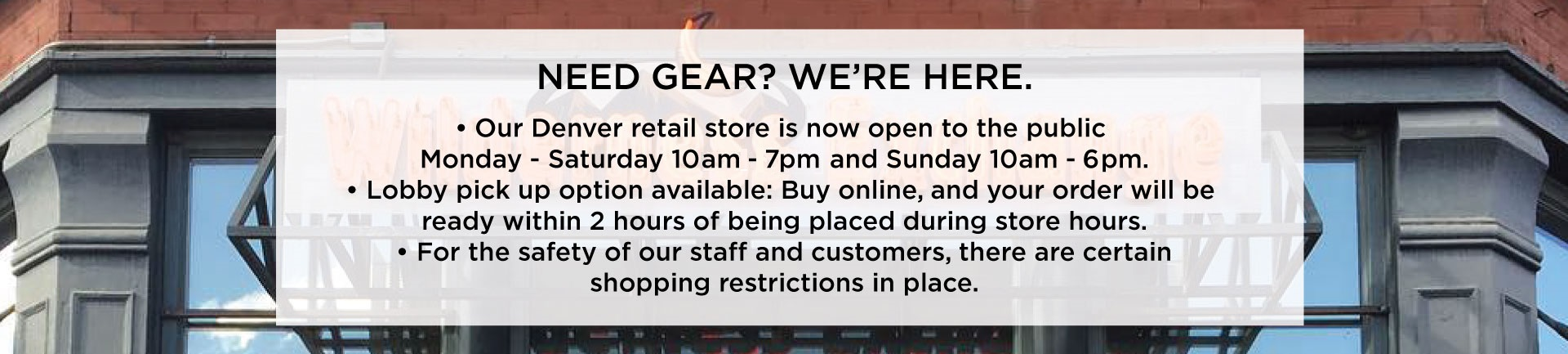 Need Gear, We're Here!
